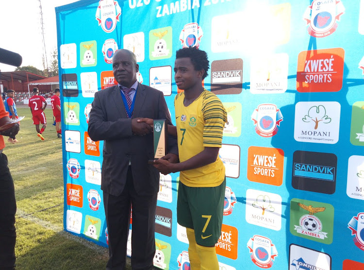 Amajita's Promise Mkhuma won the man of match award following his fine performance in their 5-0 win against Mauritius at Nkana Stadium.