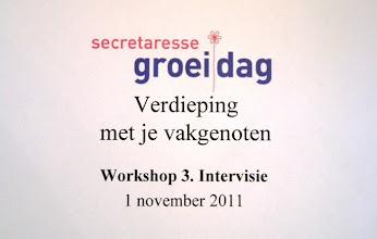Photo: Workshop 3. Verdieping met vakgenoten door middel van intervisie.