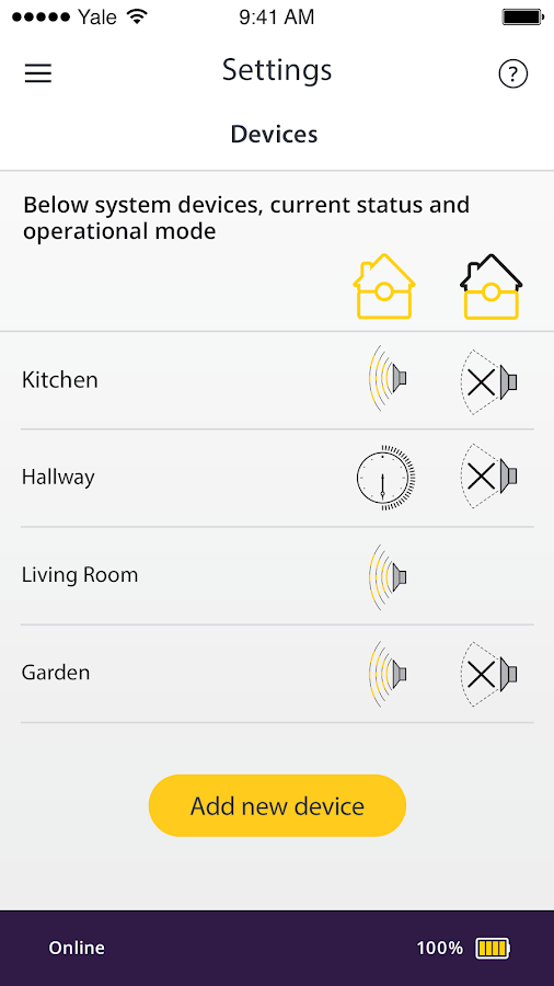 Yale Smart Living Home- screenshot
