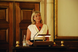 Photo: Ulla Neergaard at the City Hall of Copenhagen