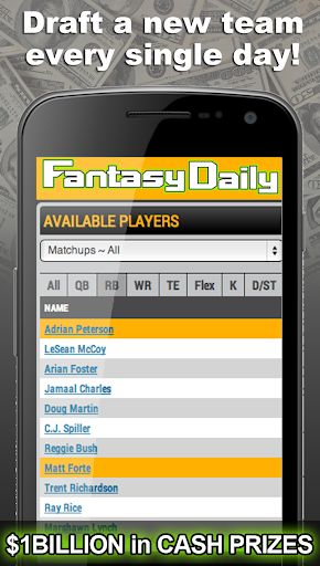 Fantasy Daily One Day Leagues