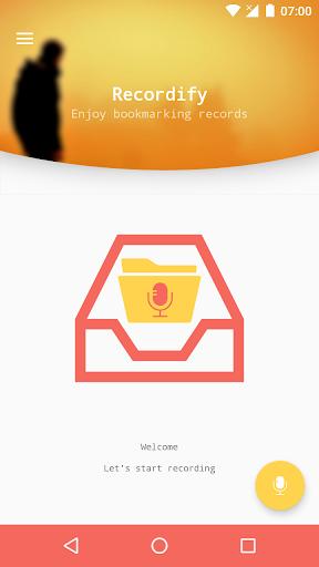 Recordify Voice Recorder screenshot 1