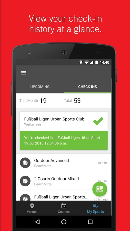 Urban Sports Club- screenshot