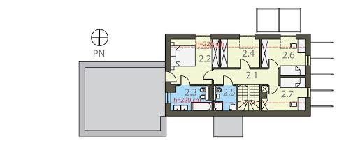Zieleń I Woda - Rzut piętra