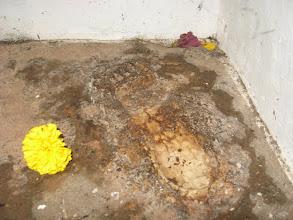 Photo: Foot Print of Shivaji Maharaj.
