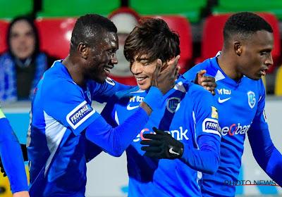 Racing Genk heeft deze avond met 2-4 gewonnen op het veld van KV Oostende