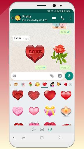? WeLove : love stickers (WAStickerApps) 2.2 screenshots 4