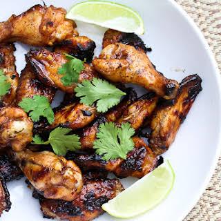Honey & Lime Thai Glazed Chicken Wings.