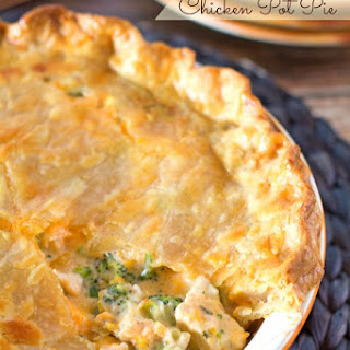Broccoli Cheddar Chicken Pot Pie Recipe