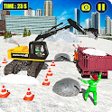 Mega Snow Excavator Machine Simulator 20 icon