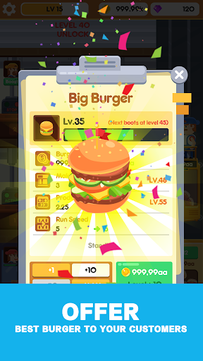 Idle Burger Factory - Tycoon Empire Game 1.1.1 Mod screenshots 3