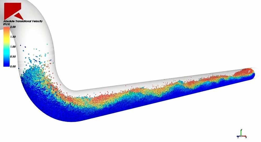 ANSYS Моделирование переноса частиц в трубе для оценки эрозии