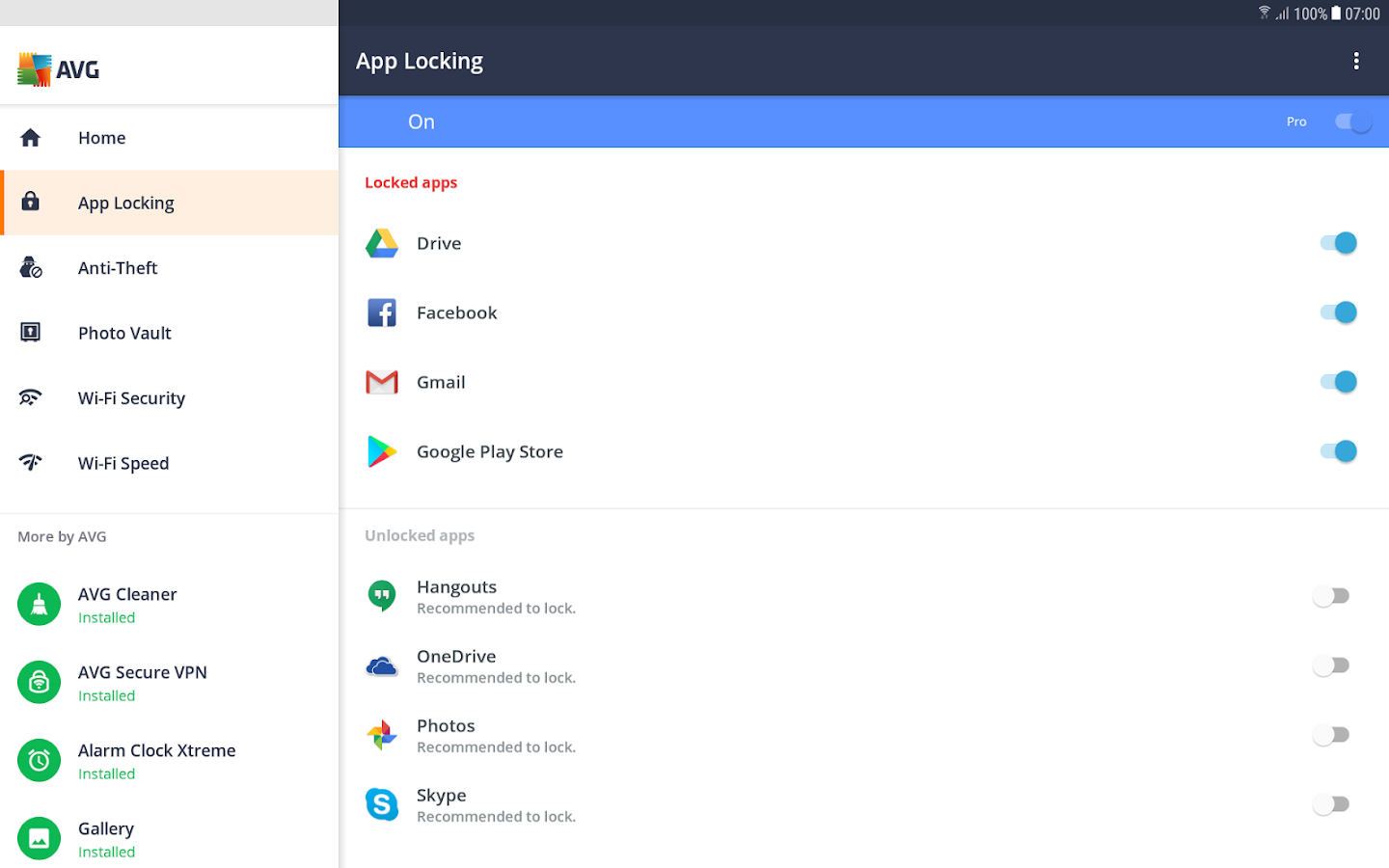 Avg antivirus free f r tablet android apps auf google play for App tablet android gratis