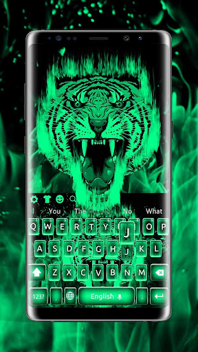 Cool green tiger beast keyboard theme App Report on Mobile