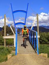Photo: Ian on Great Taste Bridge, Brightwater