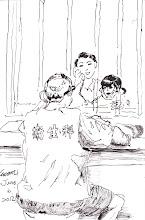 Photo: 把拔回家啦!2012.06.06鋼筆 娃娃天天問馬麻 把拔為何不回家 娃娃有乖有聽話 把拔一起回家啦!