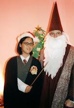 Photo: 2001 -- Harry Potter & Dumbledoor.