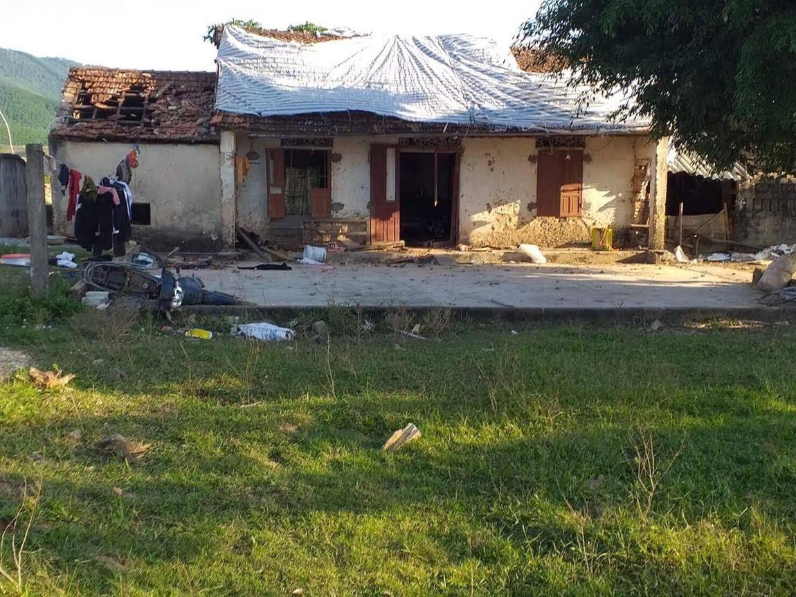 Ngôi nhà ông Lê Đức Bắc bị đập phá