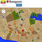 Rangoon map