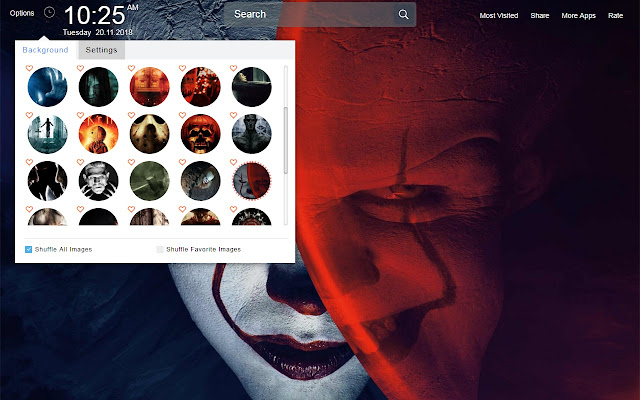 Horror Movie Wallpapers Theme New Tab