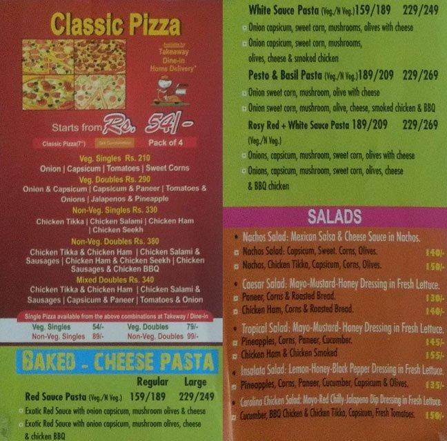 La Pino'z Pizza menu 1