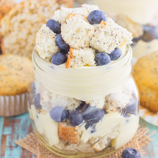 Blueberry Almond Poppy Seed Muffin Trifles.