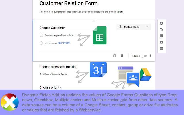 Dynamic Fields - Google Forms add-on