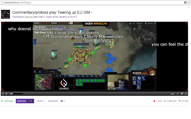 TwitchTv Chat Overlay