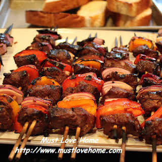 Marinated Beef Shish Kebab.