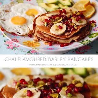Chai Flavoured Barley Pancakes