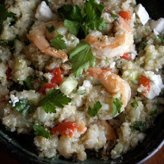 Quinoa with Feta, Shrimp and Fennel.