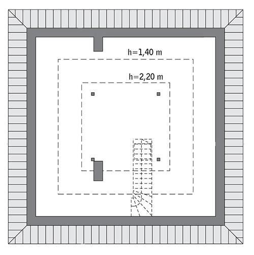 Czterolistna koniczyna - C444 - Rzut poddasza do indywidualnej adaptacji (27,3 m2 powierzchni użytkowej)