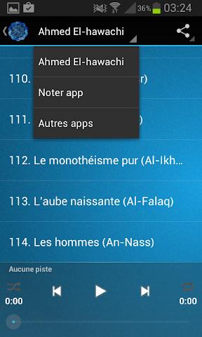 android Coran Ahmed El-hawachi Screenshot 3