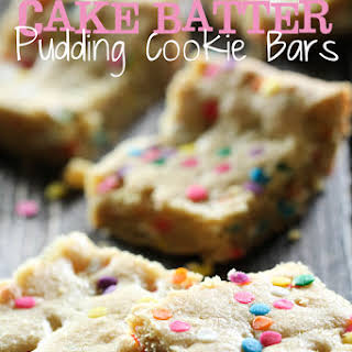 Cake Batter Pudding Cookie Bars.