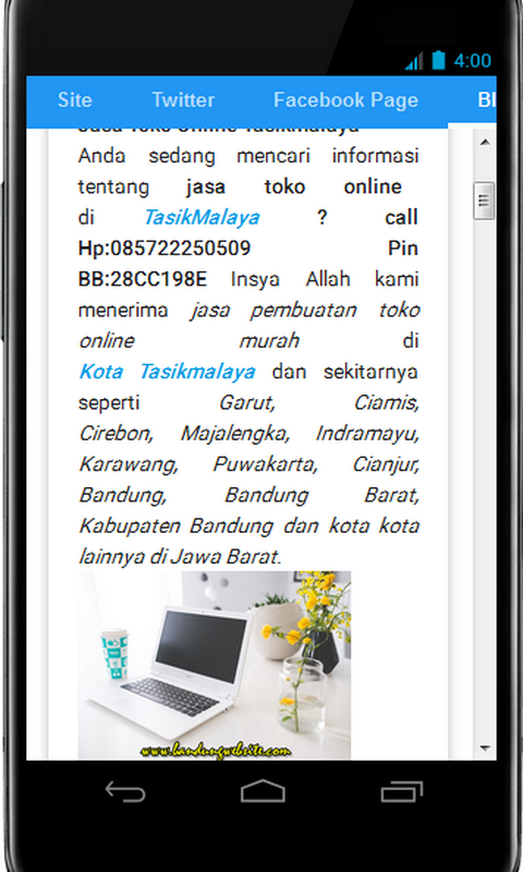 Bandung Website- screenshot