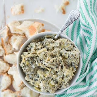 Slow Cooker Spinach Artichoke Dip (Dairy-Free, Gluten-Free).