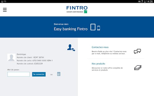 Fintro Easy banking- screenshot thumbnail
