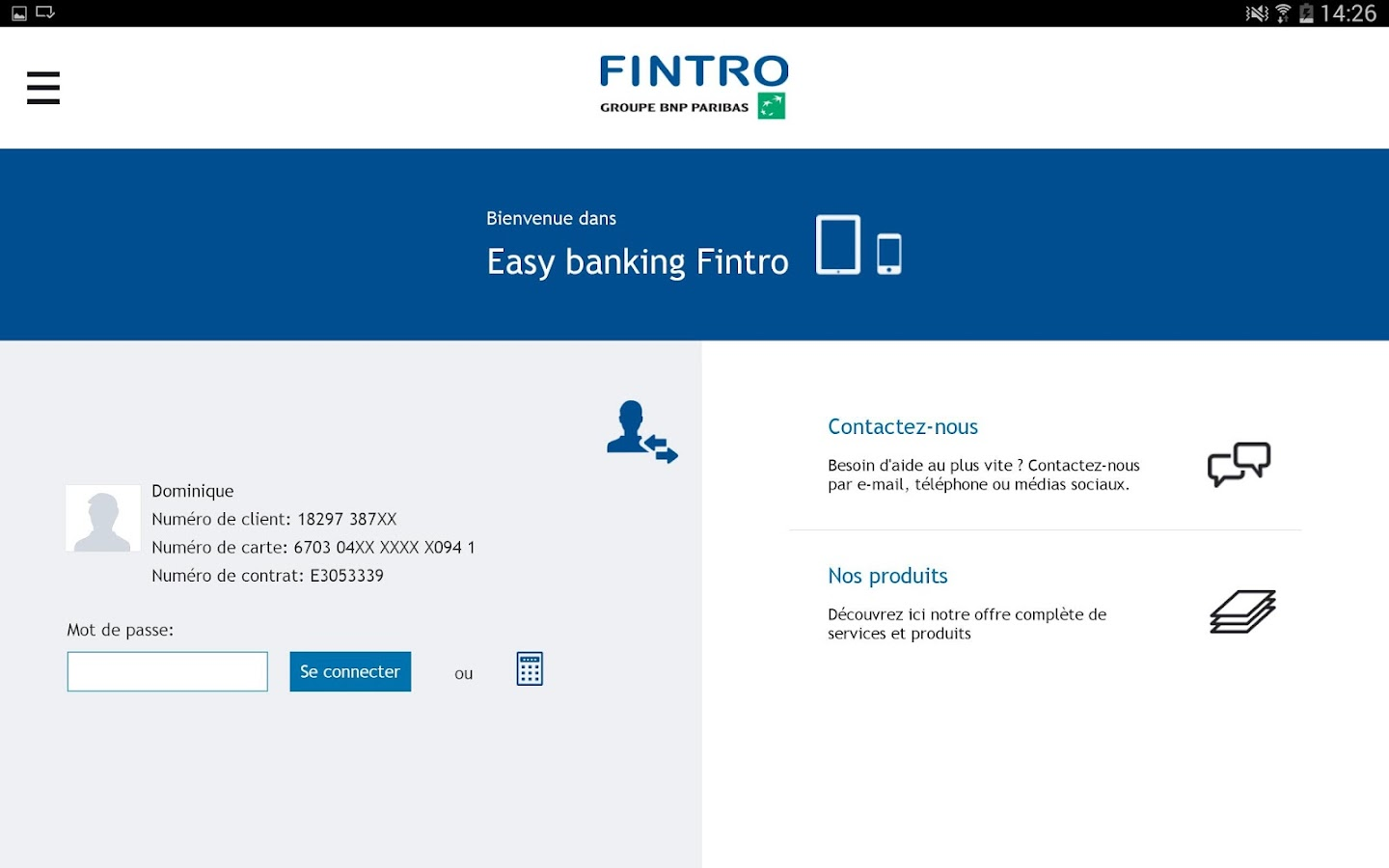 Fintro Easy banking- screenshot