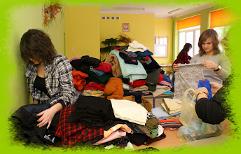 Photo: Samorząd Uczniowski podczas akcji charytatywnej