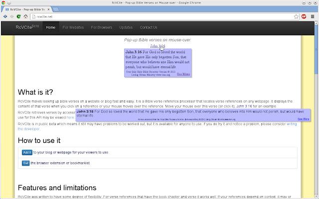 RcVCite - Pop-up Bible Verses