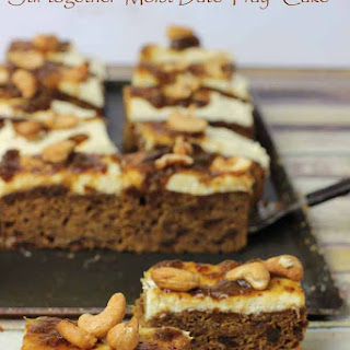 Stir together Date Tray Cake