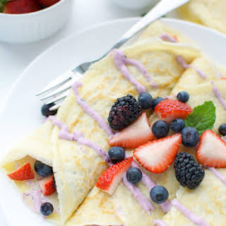 Berry Cheesecake Crepes.