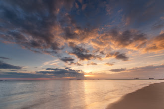 Photo: Good morning G+!  Here's a sunrise shot taken a few weeks ago back home at my parent's place. This was after I realized I forgot my battery at the house charging and had to run back in! But, definitely worth waking up at 5am :)  #sunrise  #beach