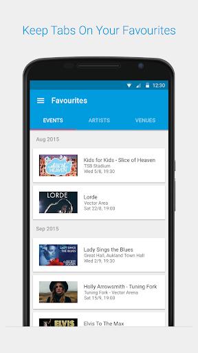 Aplikacje Ticketmaster NZ Event Tickets (apk) za darmo do pobrania dla Androida / PC/Windows screenshot