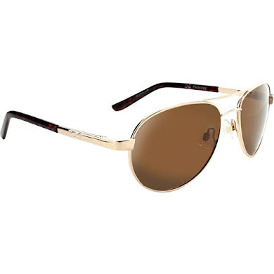 Optic Nerve ONE Siren Polarized Sunglasses: Gold with Polarized Brown Lens