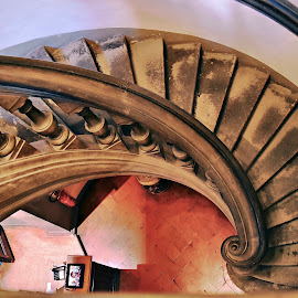 Spiral stairs by Nelida Dot - Buildings & Architecture Architectural Detail ( stairs, spiral, artistic, italian, detail, architecture )