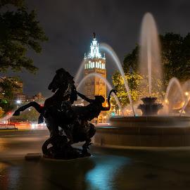by Adam C Johnson - City,  Street & Park  Fountains