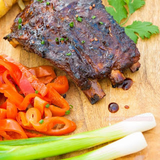 Grilled BBQ Pork Baby Back Ribs.