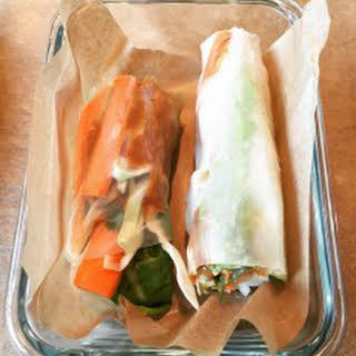 Spicy Vegetarian Fresh Rolls.