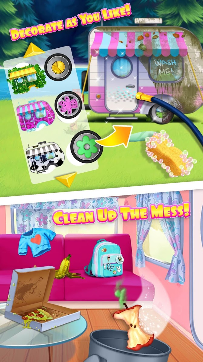 Sweet Baby Girl Summer Camp - Kids Camping Club Android 1